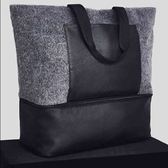 DSW Handbags - GREY FELT TOTE
